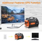 JASTEK-500W296Wh-Portable-Generator-Uninterruptible-Power-Supply-Pure-Sine-Wave-Inverter-with-Dual-110V-AC-Outlet-and-4-USB-Ports-for-Camping-and-Indoors-Black-0-1