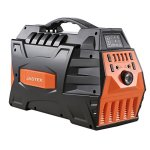 JASTEK-500W296Wh-Portable-Generator-Uninterruptible-Power-Supply-Pure-Sine-Wave-Inverter-with-Dual-110V-AC-Outlet-and-4-USB-Ports-for-Camping-and-Indoors-Black-0