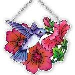 Joan-Baker-Designs-SSC1026-Hummingbird-and-Petunia-Art-Glass-Suncatcher-0