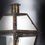 Luxury-Historic-Outdoor-Wall-Light-Large-Size-235H-x-105W-with-Tudor-Style-Elements-Antique-Gas-Lantern-Design-Rustic-Copper-Finish-and-Clear-Glass-UQL1210-by-Urban-Ambiance-0-2