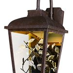 Maxim-53504CLAE-Arbor-LED-1-Light-Outdoor-Wall-Lantern-Adobe-Finish-Clear-Glass-PCB-LED-Bulb-26W-Max-Wet-Safety-Rating-2700K-Color-Temp-Shade-Material-1760-Rated-Lumens-0