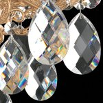 Milano-2-Light-Chandelier-in-Heirloom-Bronze-with-Clear-Optic-Crystal-0-1