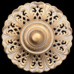 Milano-2-Light-Chandelier-in-Parchment-Gold-with-Golden-Shadow-Crystals-From-Swarovski-0