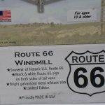 Mini-17-Inch-Made-in-the-USA-Windmill-galvanized-Steel-Black-White-Trim-Route-66-Tail-0-1