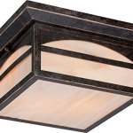 Nuvo-Lighting-605653-Canyon-Large-One-Light-Wall-Lantern-100-watt-A19-Outdoor-Porch-and-Patio-Lighting-with-Honey-Stained-Glass-0
