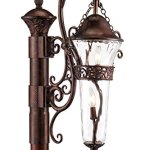 Outdoor-Post-Light-2-Light-with-Burnished-Bronze-Finish-Candelabra-Base-Bulb-15-inch-120-Watts-0