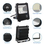 Richday-New-2Pack-LED-Flood-Lights-Spotlights-Outdoor-Waterproof-Flood-Fixture-Daylight-White-6500k-85V-265V-0-0