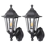 SPECILITE-Motion-Sensor-LED-Porch-Light-Outdoor–Special-Handling-Anti-Corrosion-Durable-Plastic-Material-Waterproof-Exterior-Wall-Security-Light-Fixtures-for-Yard-Garage–2-Pack-Wall-Lanterns-0