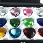 Sapphire-Amber-Emerald-Crystal-Heart-Diamond-Set-of-12-40mm-0-1