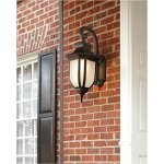 Sea-Gull-Lighting-8836302EN3-71-Childress-Two-Light-Outdoor-Wall-Lantern-with-Glass-Panels-Antique-Bronze-Finish-0-0