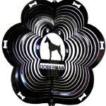 Stainless-Steel-Wind-Spinner-12-Animal-Dog-Breed-Doberman-Black-Starlight-0