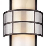 Troy-Lighting-Discus-14-H-2-Light-Outdoor-Wall-Light-Graphite-Finish-with-Opal-Glass-0