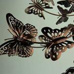 Upper-Deck-LTD-Aged-Copper-Finish-Butterfly-Garden-Twirler-Kinetic-Wind-Spinner-Stake-0-2