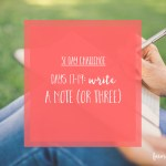 31 day challenge | Write a note