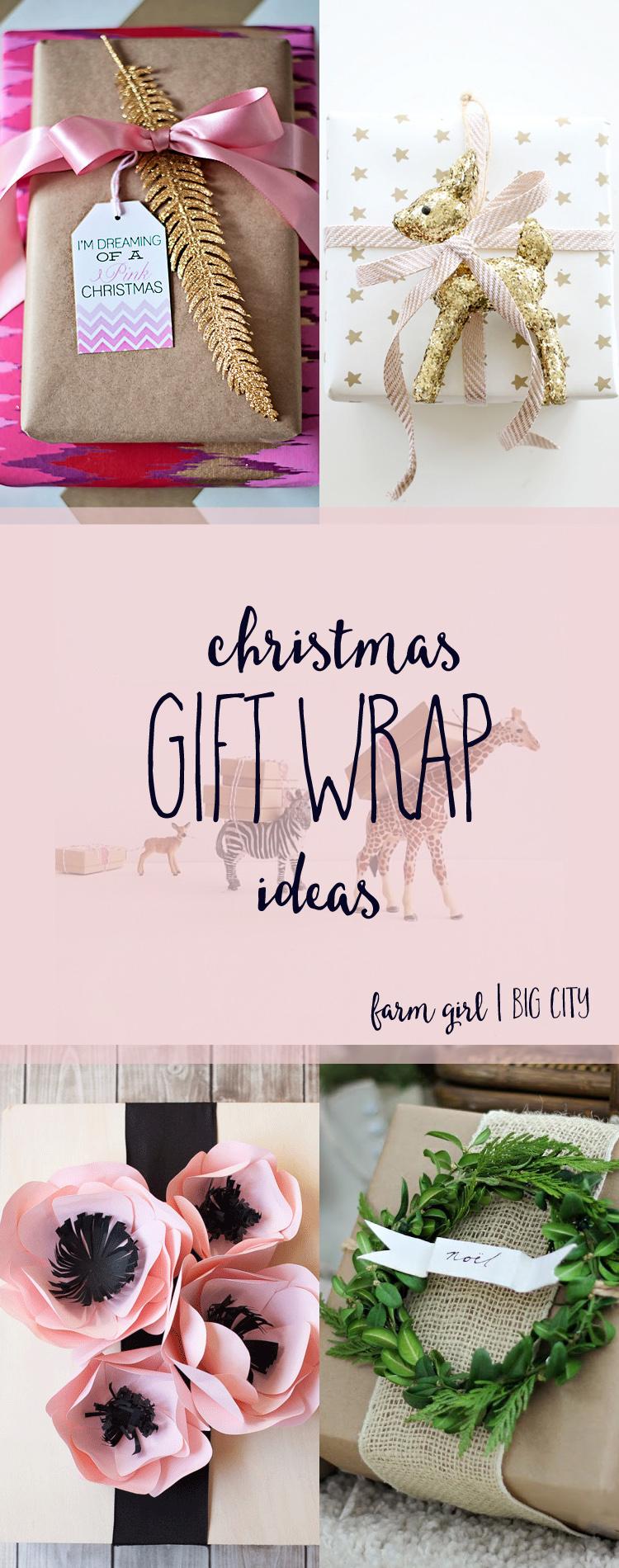 Unique gift wrap ideas for Christmas (via farm girl big city)