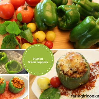 Garden Fresh Stuffed Green Peppers — Yeah Summer Foods!
