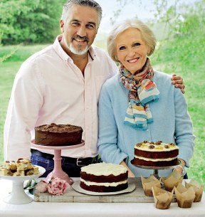 Mary Berry and Paul Hollywood with Cake
