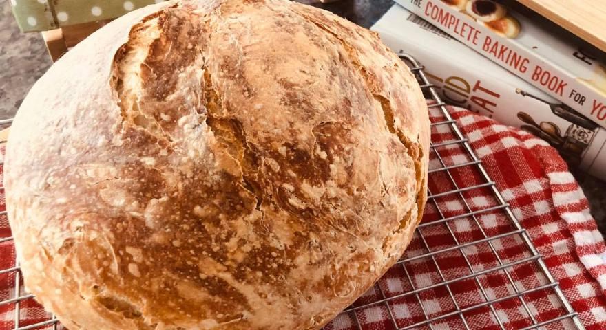 America's Test Kitchen Rustic Almost No-Knead Bread