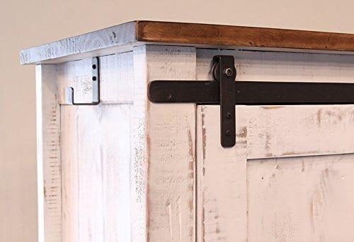 Style Of Anton Distressed White Barn Door For Your Plan - Simple Elegant white sliding barn door