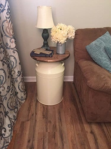 Milk Can Rustic End Table