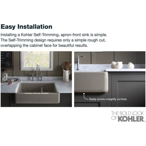 Kohler Whitehaven Short Apron Basin Sink ...
