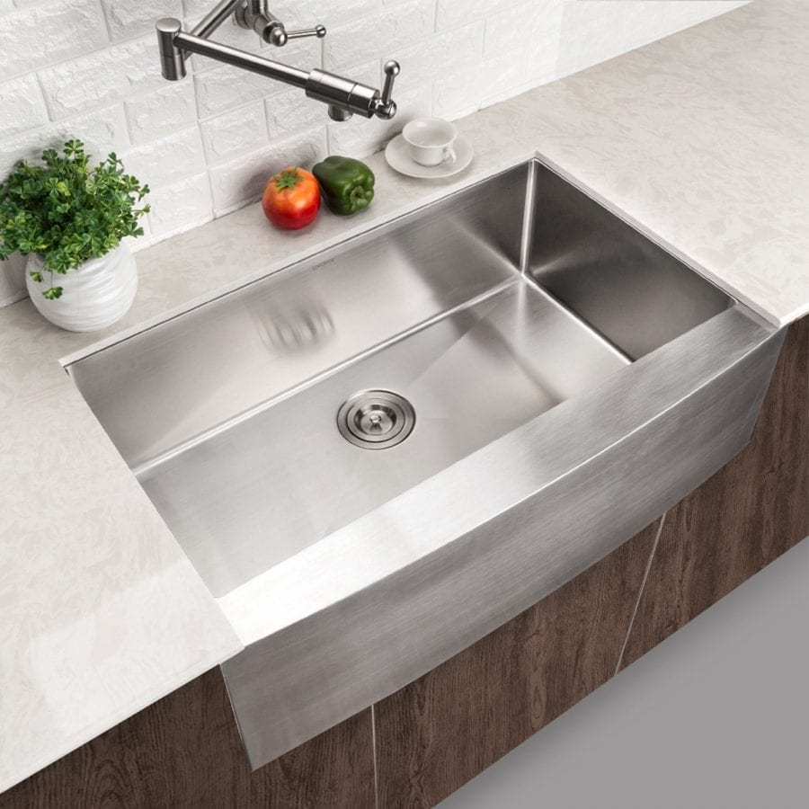 Lordear Commercial 33 Inch Stainless Steel Undermount Farmhouse Sink
