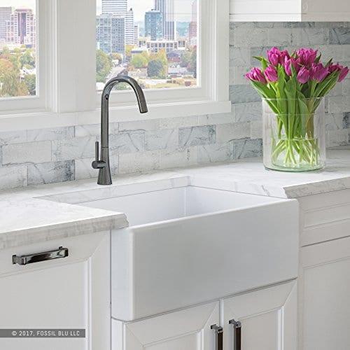 Luxury Fireclay Modern White Farmhouse Kitchen Sink ...