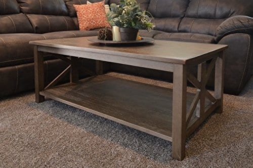 Beautiful East End Collection Rustic Weathered Gray Coffee Table
