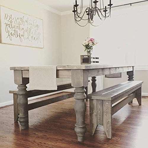 Chunky Unfinished Farmhouse Dining Table Legs ...