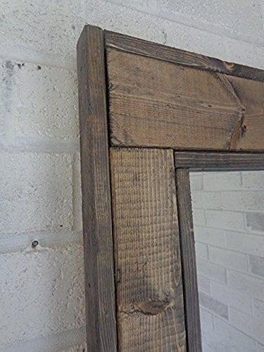 Herringbone Rustic Reclaimed Wood Mirror ...