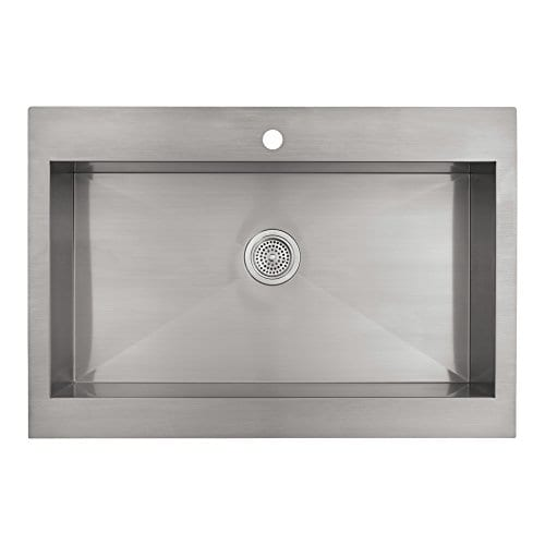 Kohler Vault Top-Mount Single-Bowl Farmhouse Steel Kitchen Sink, 36 ...