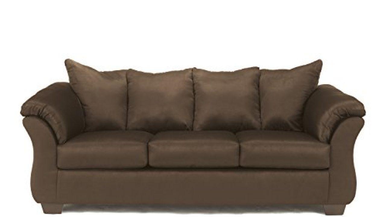 signature design by ashley darcy microfiber sofa cafe