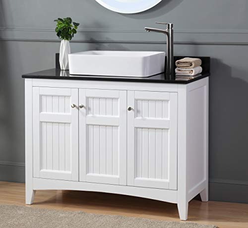 42 thomasville farmhouse white vessel sink bathroom vanity zk 77888gt