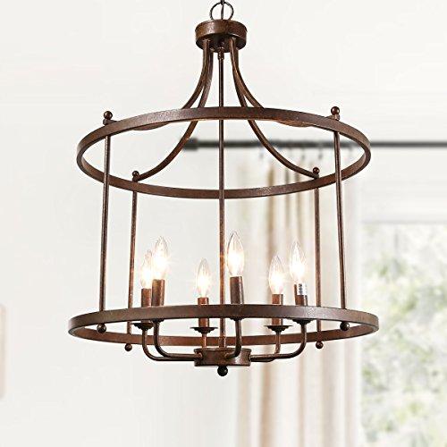 log barn farmhouse chandelier dining lighting fixtures hanging in rustic bronze drum pendant for kitchen island