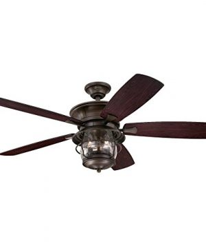 westinghouse lighting 7800000 brentford indoor outdoor ceiling fan with light 52 inch aged walnut