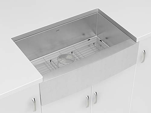 zuhne stainless steel farmhouse kitchen sink 30 inch apron front 16 gauge single bowl