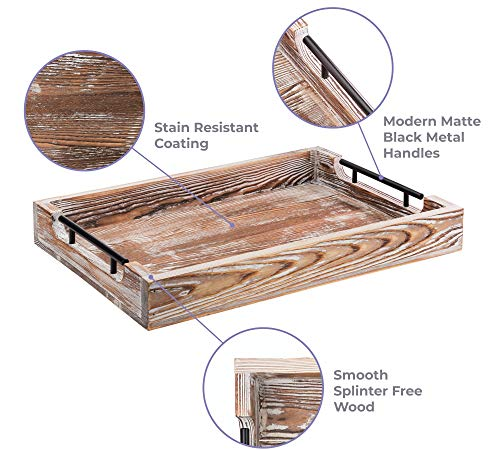 large ottoman tray with handles 16 5 x12 coffee table tray rustic tray for ottoman wooden trays for coffee table wooden serving trays for