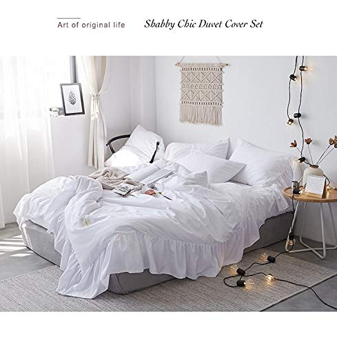 ruffle duvet cover queen 100 washed microfiber 3pcs bedding duvet cover set shabby chic farmhouse duvet cover and