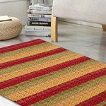 Cotton Rag Rugs 2x3 Red Combo In Diamond Weave Stripe Cotton Area Rugs Indoor Out Door Rugs 2 X3 Rugs For Living Room Farmhouse Goals