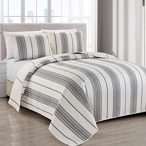 modern bedspread twin size quilt with 1 sham modern 2 piece reversible all season quilt set grey and white quilt