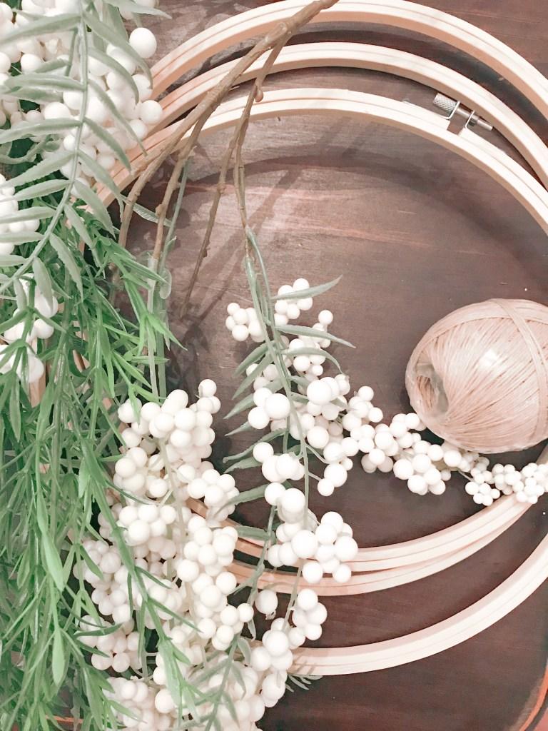 Farmhouseish - Hoop Wreath How To