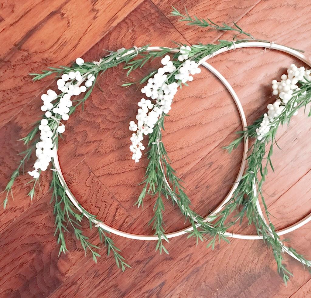 Farmhouseish - Hoop Wreaths On Floor