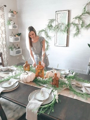 Farmhouseish - Fall Tablescape Setting Table