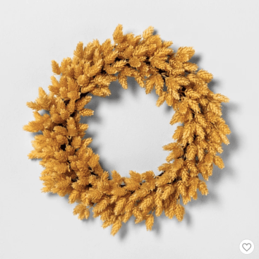 Farmhouseish - Yellow Hops Fall Wreath