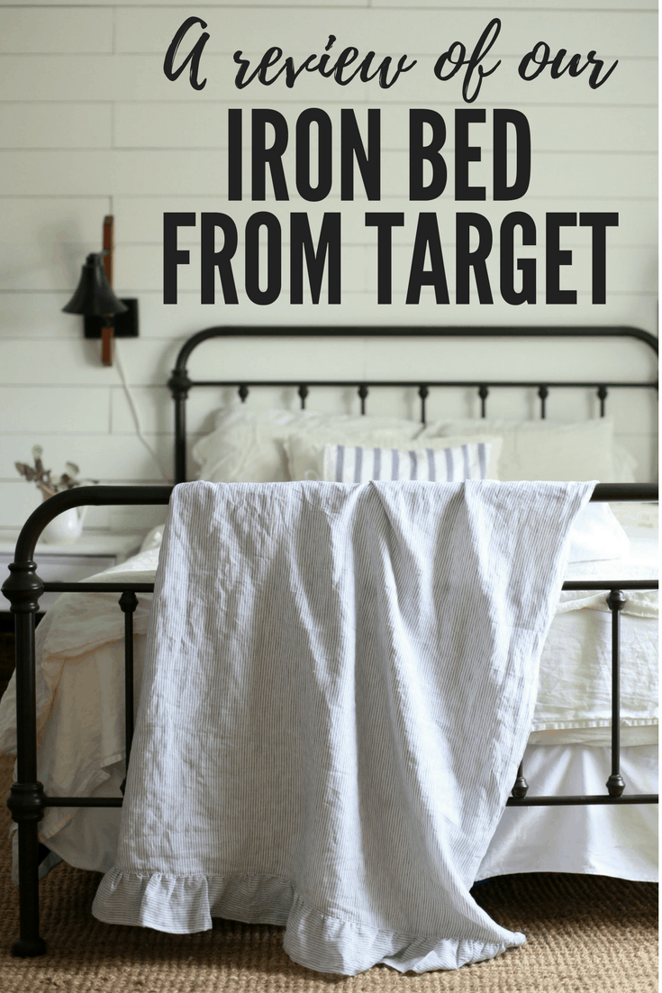 A Review Of Our Iron Bed From Target Farmhouse On Boone