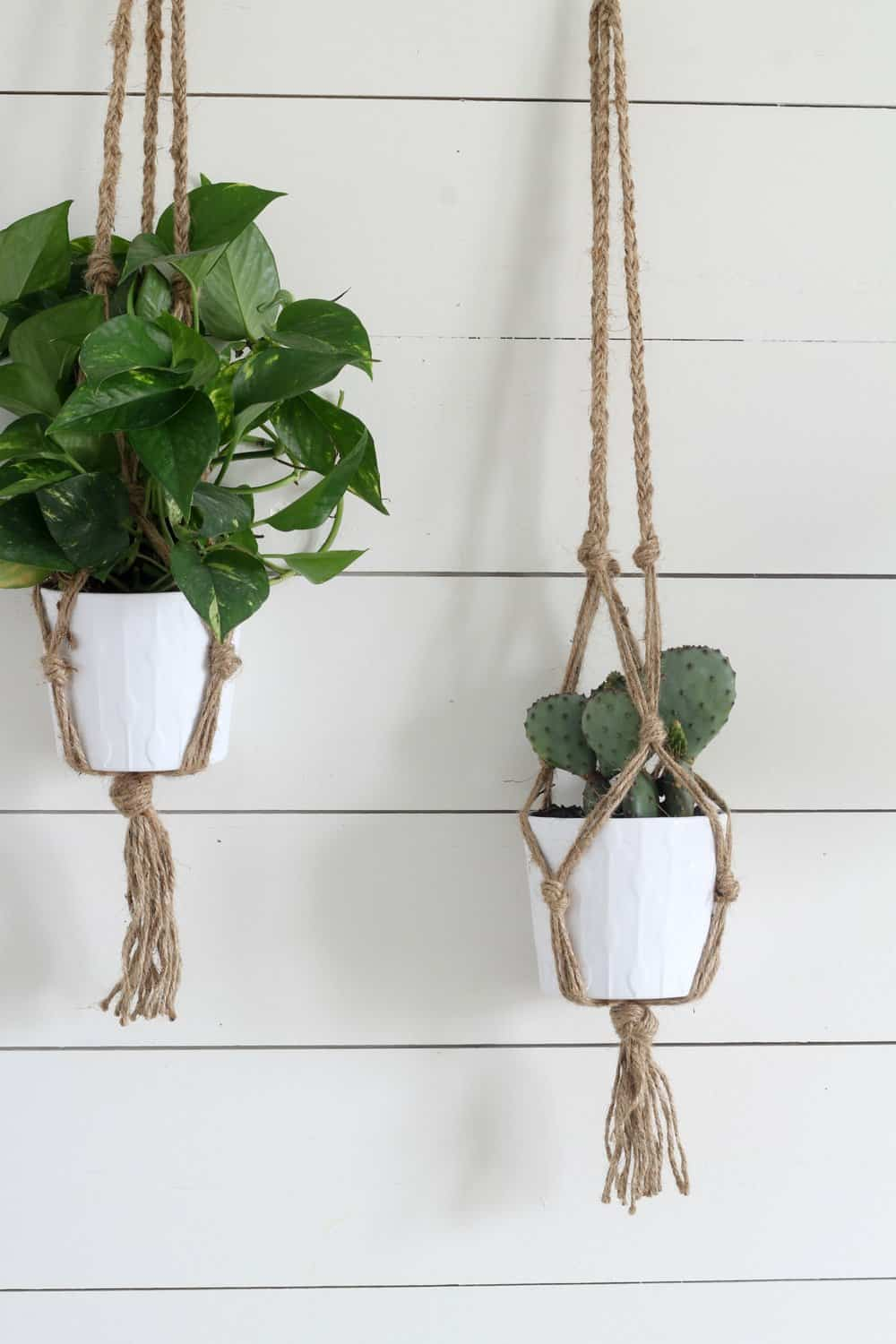 Simple Diy Macrame Necklace: Simple DIY Macrame Plant Hanger With Video Tutorial