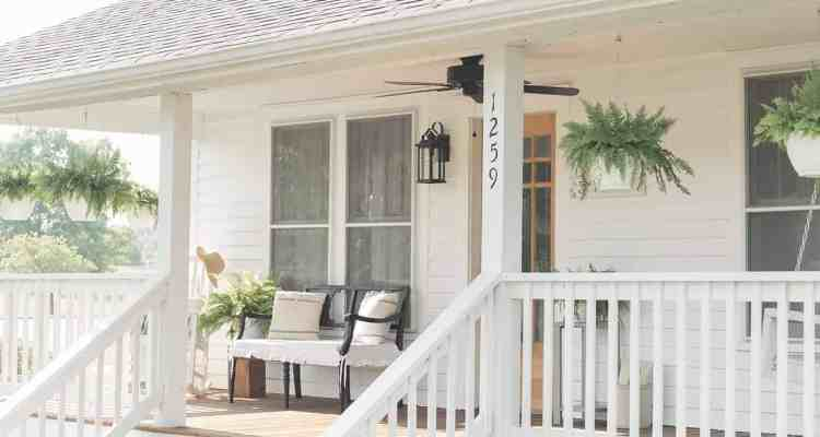 Farmhouse Porch Curb Appeal Makeover Reveal