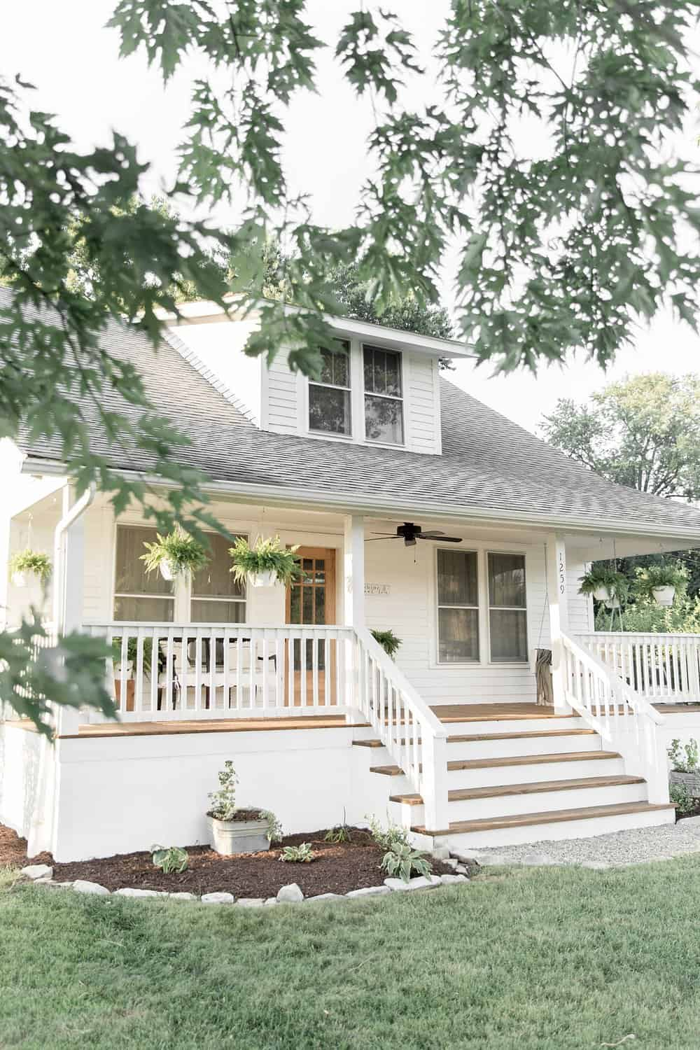 Farmhouse Porch Curb Appeal Makeover Reveal Farmhouse On Boone