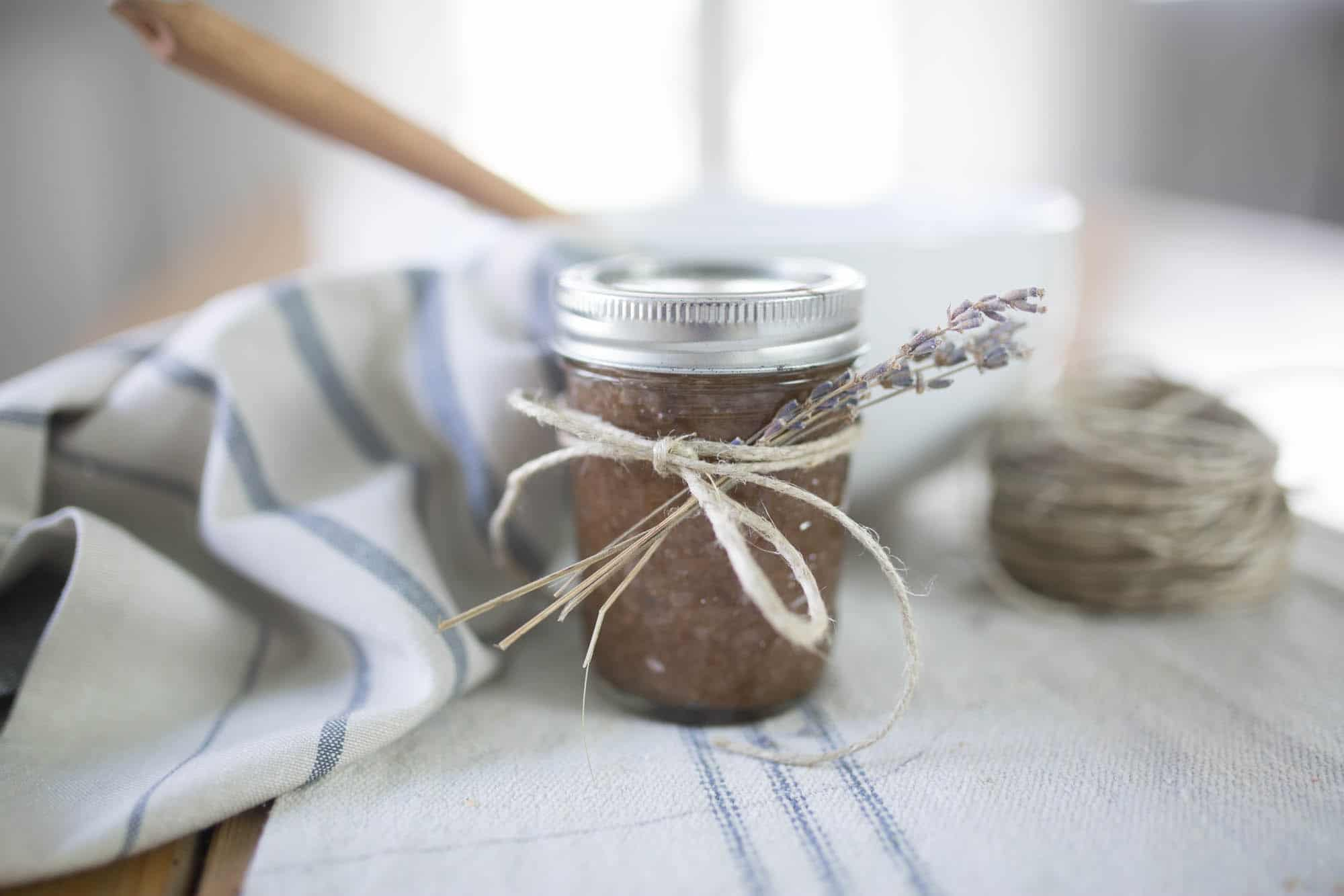 This simple homemade sugar scrub recipe makes the perfect Christmas gift.