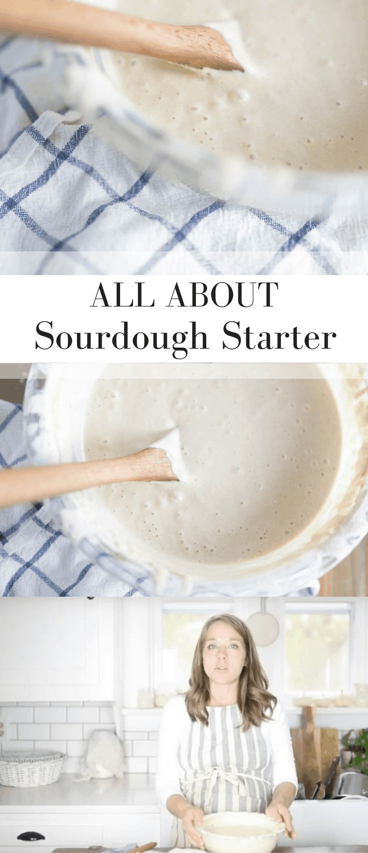 how to make homemade sourdough starter from scratch video tutorial.